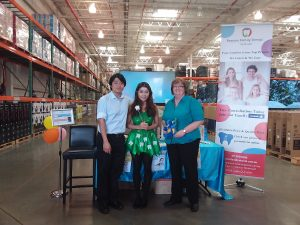 Information Stand at the Costco North Lakes Business Fair
